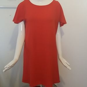 Cc red short sleeve shift dress size small